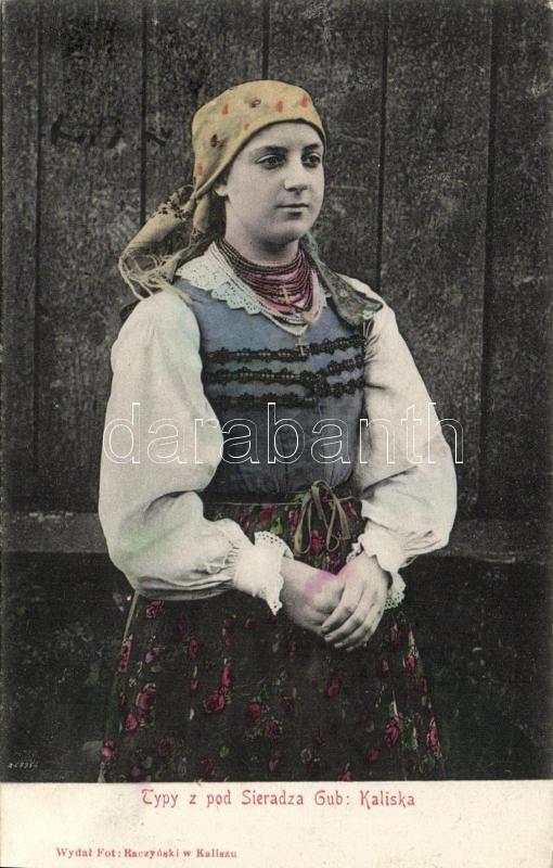 Polish folklore from Sieradza, Sieradza, lengyel népi viselet, folklór