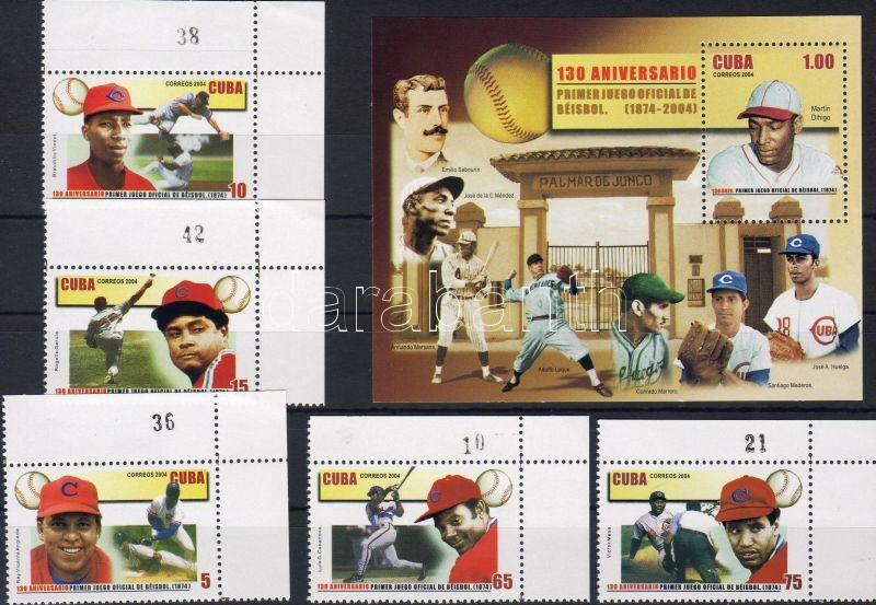 Baseball corner set + block, Baseball ívsarki sor + blokk, Baseball Satz mit Rand + Block
