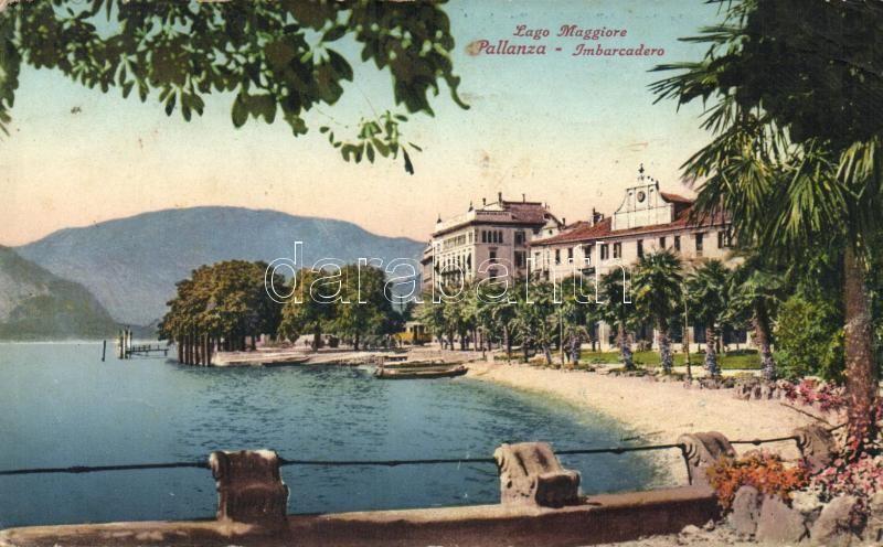Pallanza, Lago Maggiore, Imbarcadero / lake, pier, translate office advertisement on the backside