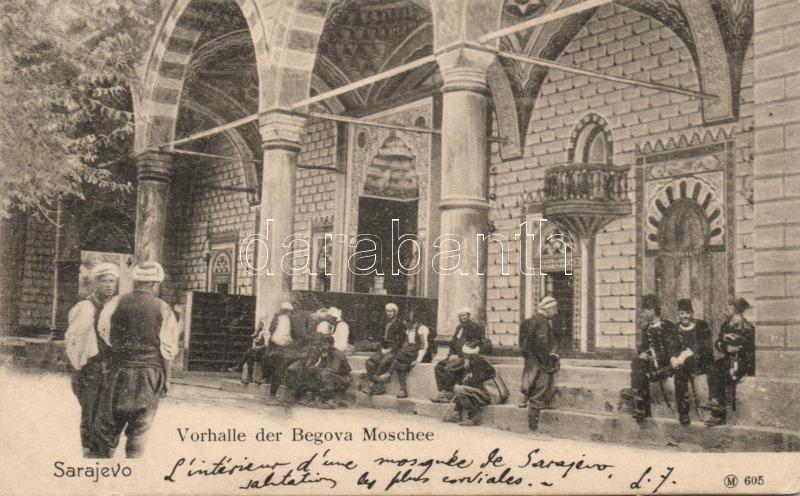 Sarajevo, Vorhalle der Begova Moschee / porch of the Begova Mosque