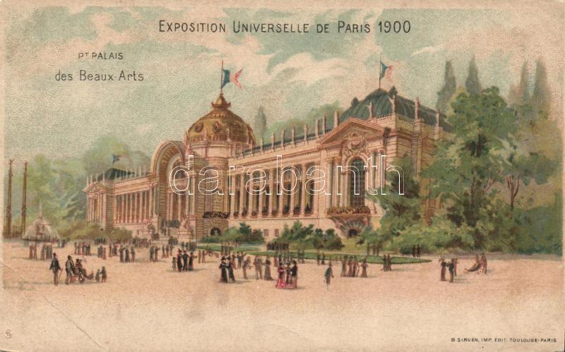 1900 Paris, Exposition Universelle, Palais des Beaux-Arts / exhibition palace of fine arts, B. Sirven litho