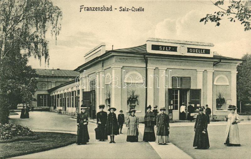 Frantiskovy Lazne, Franzensbad; Salz-Quelle / salt spa