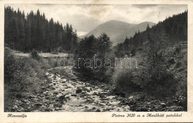 Havasalja, Pietros, Mezőhát patak
