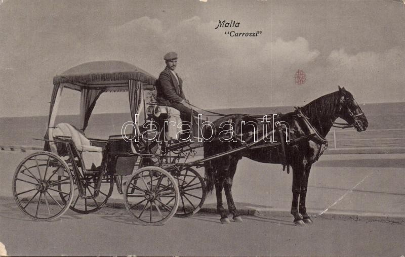 Malta Carrozzi / Maltese horse carriage, Máltai lovas hintó
