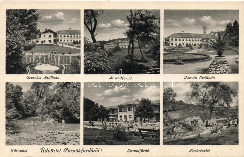 Baile 1 Mai, hotel, spas, Püspökfürdő, Erzsébet és István szálloda, strandfürdő