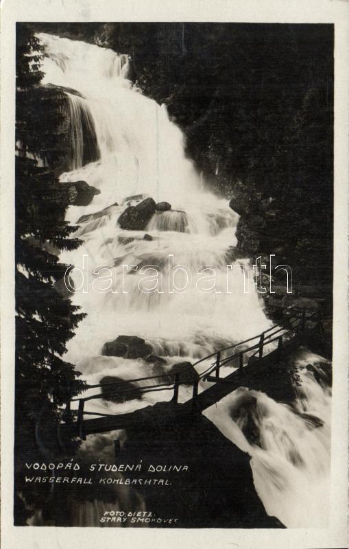 Tatra, Studená dolina, vodopád / valley, waterfall, Tátra, Tarpatak völgy, vízesés