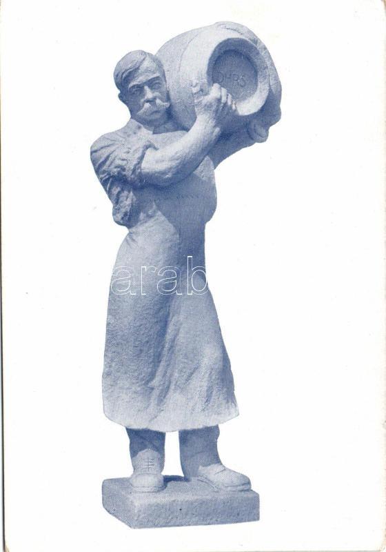 Winter beer statue, Itt a téli sör különlegesség, hordós szobor