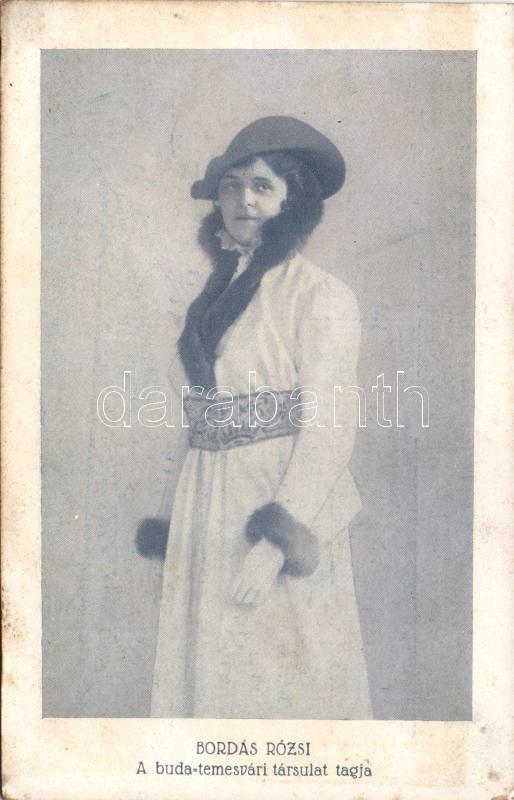 Rózsi Bordás, Bordás Rózsi, a buda-temesvári társulat tagja