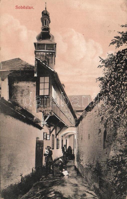 Sobeslav, church, alley