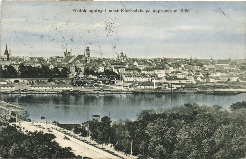 Warsawa, Warsaw; Widok ogólny i most Kierbedzia po naprawie w 1916r / general view and the Kierbedzia bridge after the repair in 1916