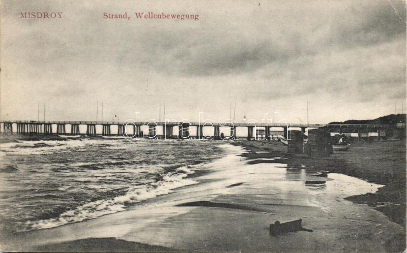 Miedzyzdroje, Mizdroy; Strand, Wellenbewegung, beach