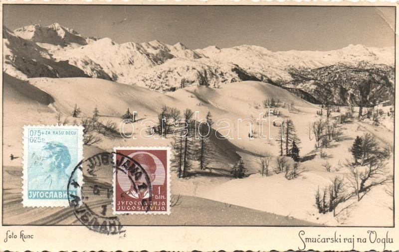 Vogel, Smucarski raj na Voglu / ski resort, TCV card