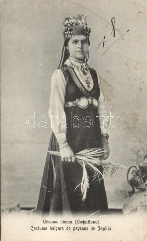 Costume bulgare de paysans de Sophia / Bulgarian folklore from Sofia, Bolgár folklór Szófiából