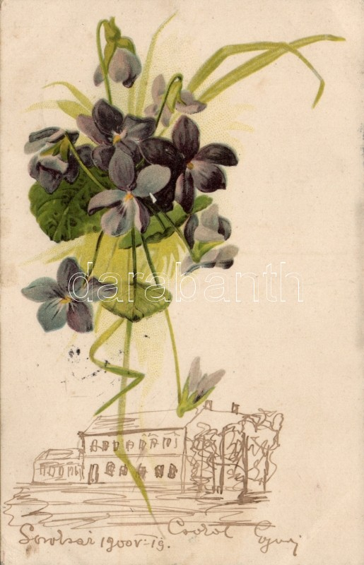 Flower litho, Virág litho