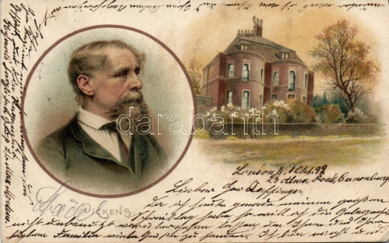 1899 Charles Dickens litho