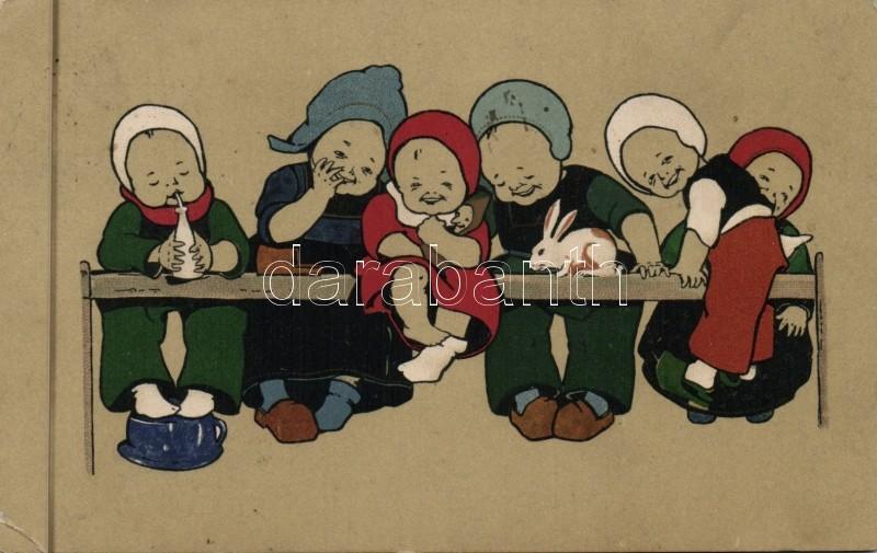 Dutch folklore, M. Munk No. 196. litho, Holland folklór, M. Munk No. 196. litho