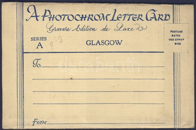 Glasgow, Photocrome letter card with 6 pictures