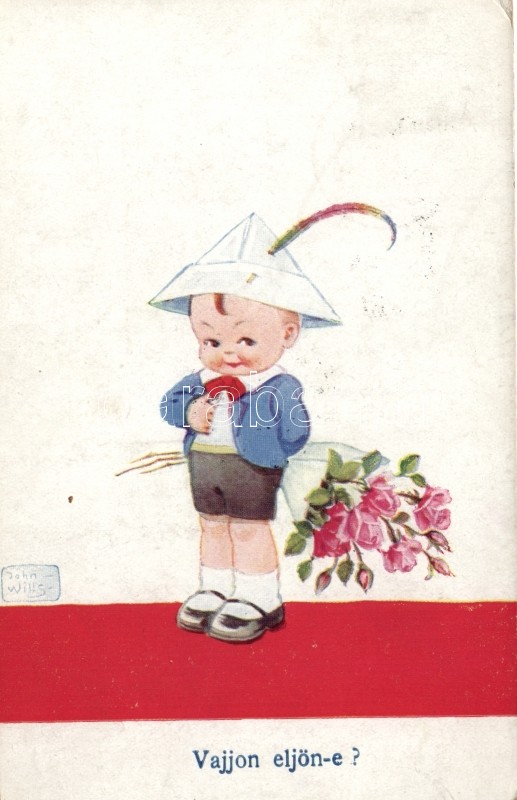 Child, boy, love, humour s: John Wills, Gyerek, fiú, szerelem, humor s: John Wills