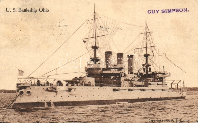 USS Ohio (BB-12) (U.S. Battleship Ohio)