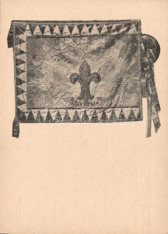 Scout flag with motto, Cserkész zászló mottóval '95. sz. Lehel cserkészcsapat'