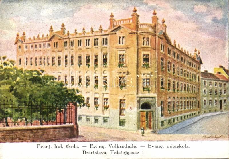 Bratislava, school, Pozsony, Evangélikus népiskola