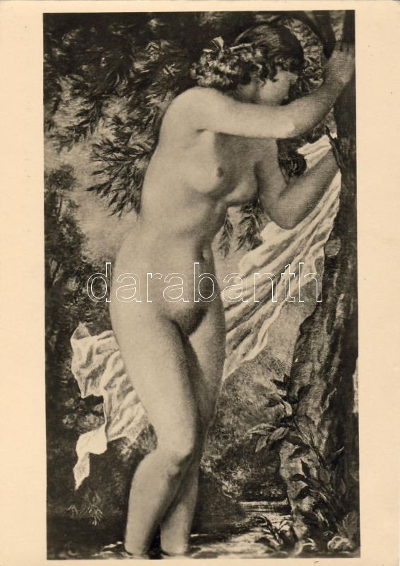 'Im Winde' Erotic nude, pinx. Gisbert Palmié
