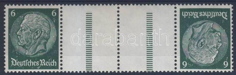 Hindenburg relation from stamp booklet, Hindenburg füzetösszefüggés, Hindenburg Zusammendruck