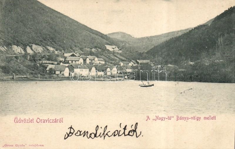 Oravita, the Big Lake by the Mine Valley, Oravica, a Nagy-tó a Bánya-völgy mellett