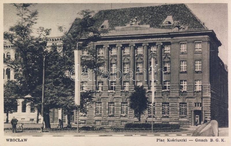 Wroclaw, Plac Kosciuszki, Gmach BGK / square, bank, Kosciuszko square National Bank