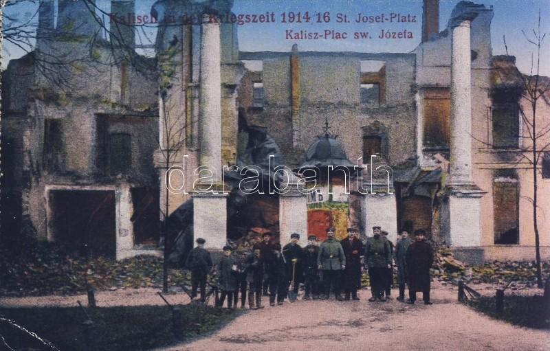 1914-16 Kalisz, WWI, Plac sw. Józefa / destroyed square