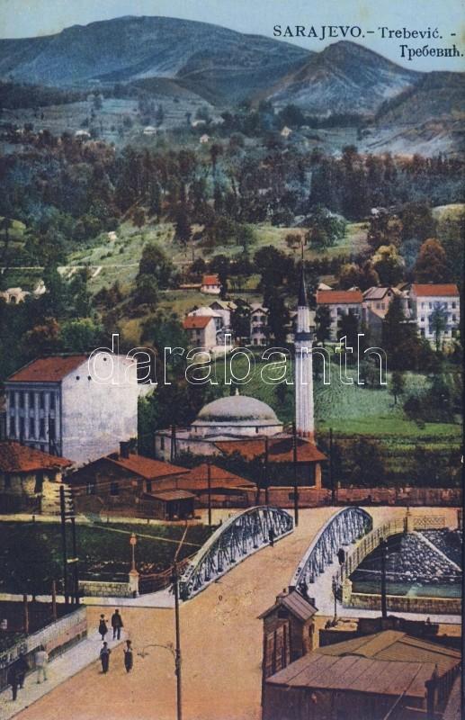 Sarajevo with Trebevic mountain and minaret