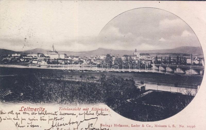 Litomerice, Leitmeritz; Elbbrücke / bridge