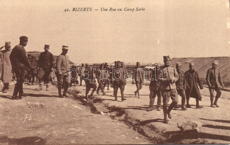 Bizerte, Une Rue au Camp Serbe / Serbian military camp