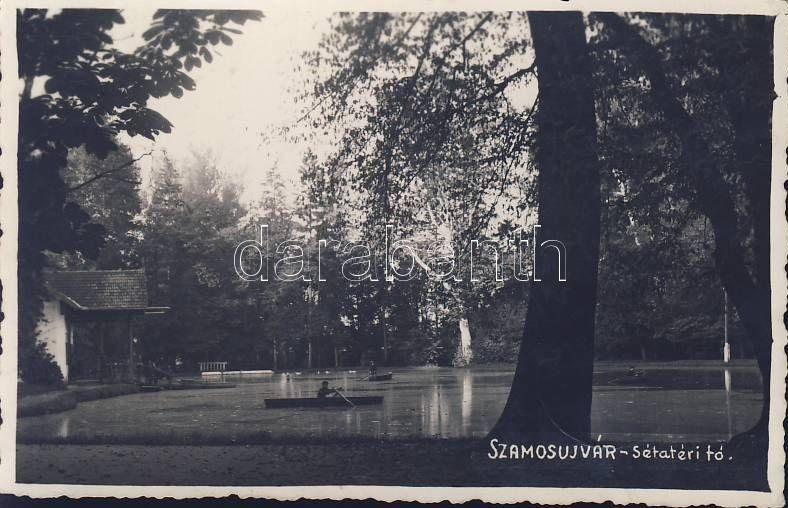 Gherla, park, lake, boat, Szamosújvár, Sétatéri tó, csónak