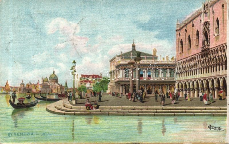 Venice, Venezia; Molo litho s: Meregazzi
