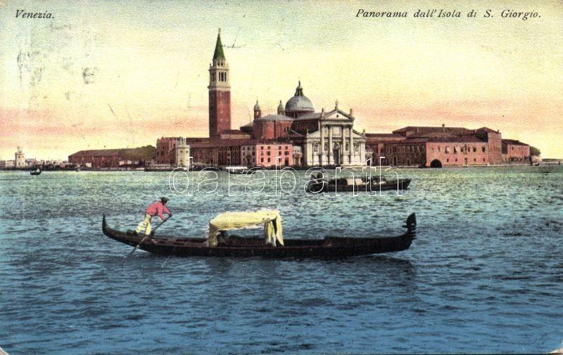 Venice, Venezia; Isola di S. Giorgio / island, gondola