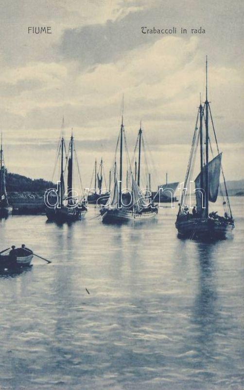 Fiume, Trabaccoli in rada / sailing boots