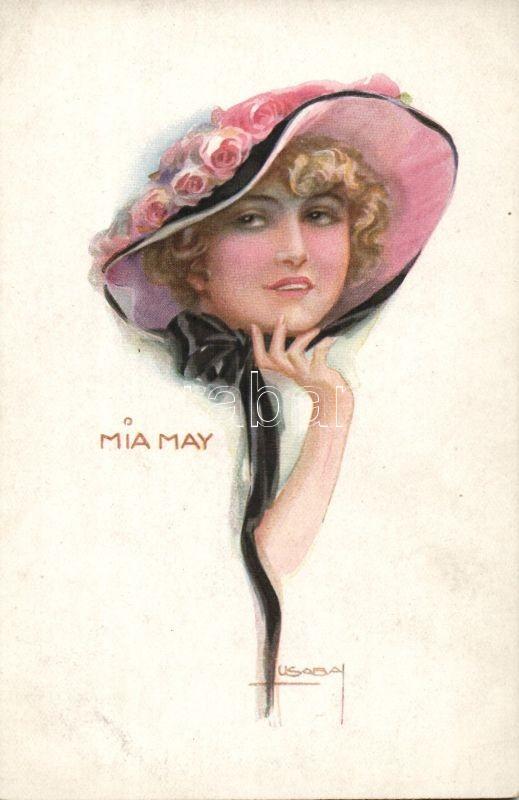 Italian Art Postcard, Mia May 'Erkal No. 335/3' s: Usabal