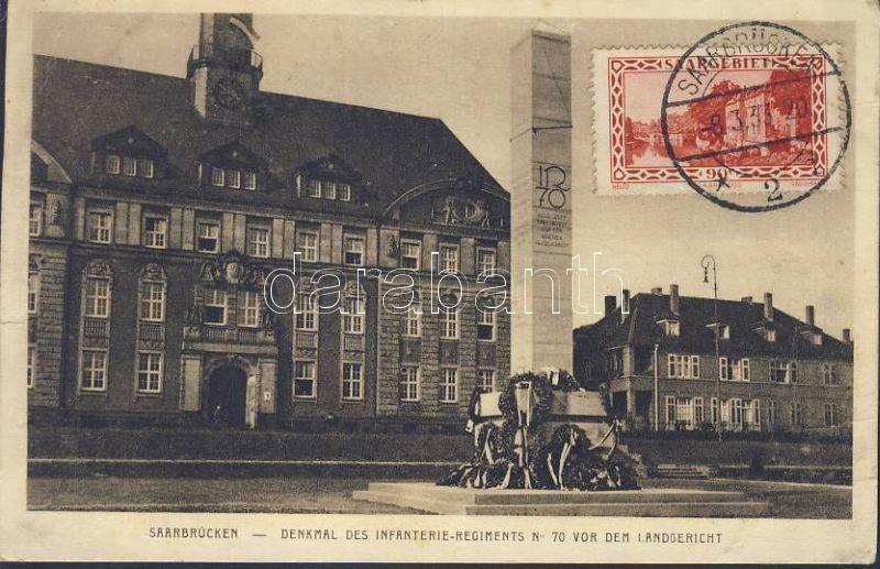 Saarbrücken, Denkmal des Infanterie-Regiments No. 70 vor dem Landgericht / Monument of Infantry Regiment, District Court
