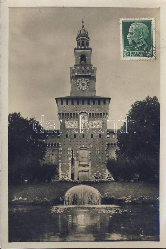 Milan, Milano; Castello Sforzesco and the Torre del Filarete / castle