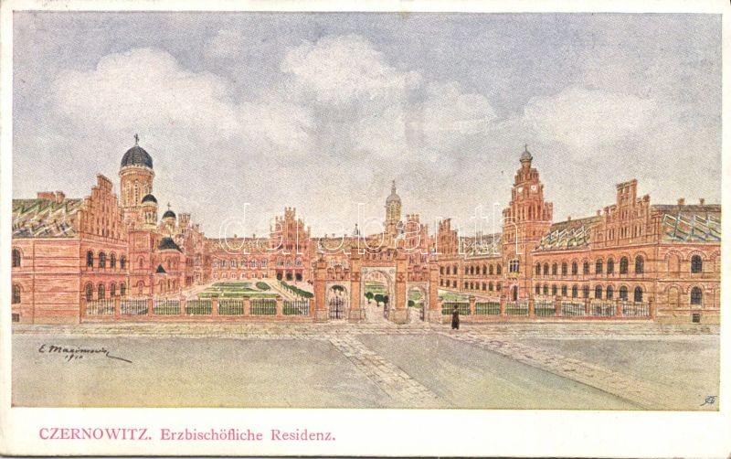 Chernivtsi, Czernowitz; Erzbischöfliche Residenz / palace s: E. Maximovicz