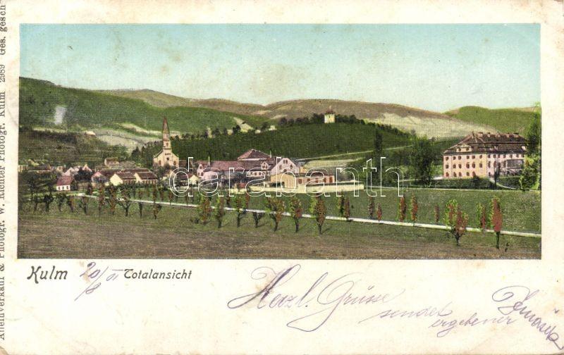 Chlumec, Kulm; golden decoration, church