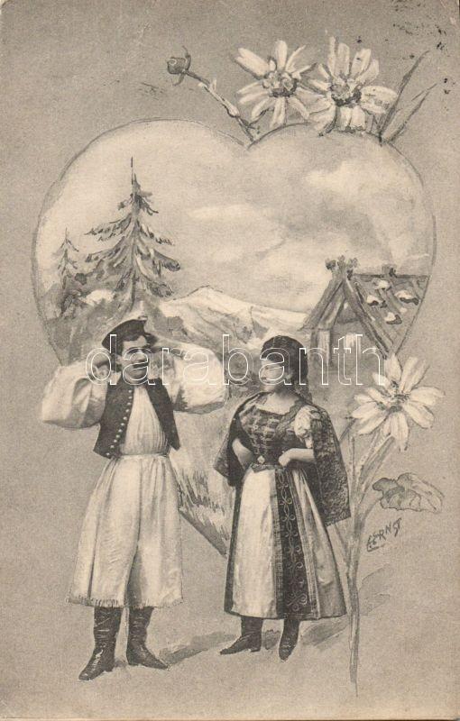 Hungarian folklore, flowers s: Ernst, Magyar folklór, virágok s: Ernst