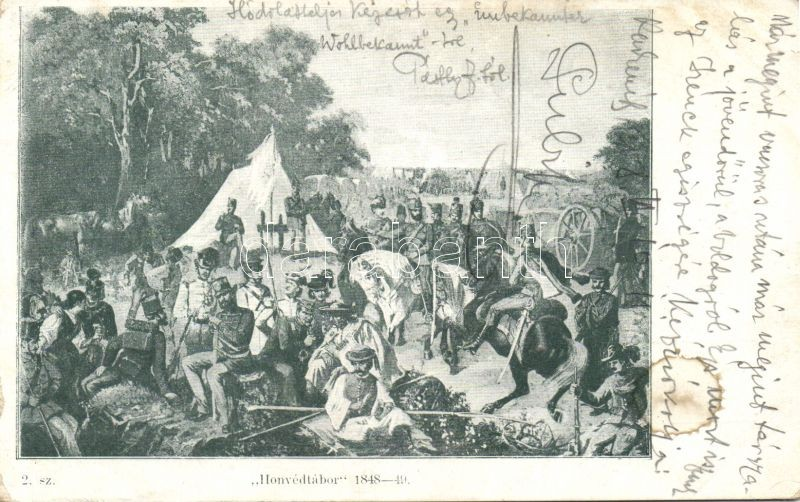 1848-49 Military camp of Hungarian soldiers, 1848-49 Honvédtábor