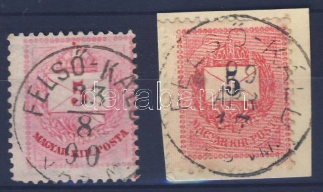 2 different stamps