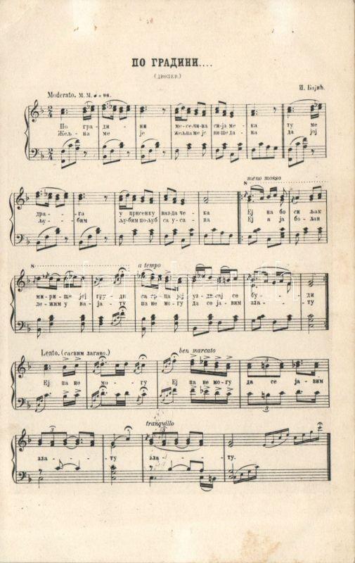 Isidor Bajic's Po Gradini mesecina / After Gradini Moonlight music sheet by Isidor Bajic, Isidor Bajic: Po Gradini mesecina  kotta