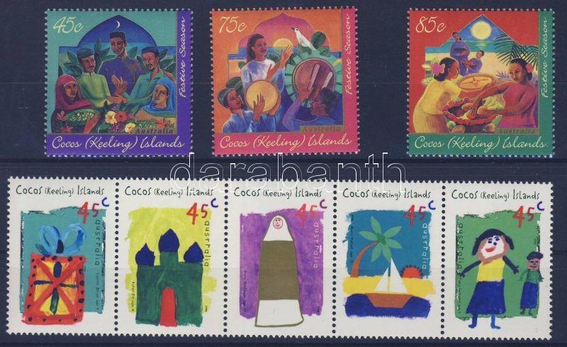 1996 + 1998 Islamic Festival 2 sets (one of them in stripe of 5), 1996 + 1998 Iszlám fesztivál 2 sor (egyik ötöscsíkban), 1996 + 1998 Islamisches Fest 2 Sätze (eine der Sätze im Fünferstreifen)