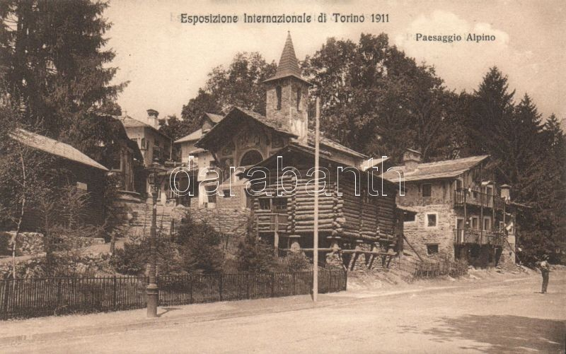 Torino, Turin Esposizione Internazionale di Torino 1911, Paesaggio Alpino / International Exhibition, Alpine landscape