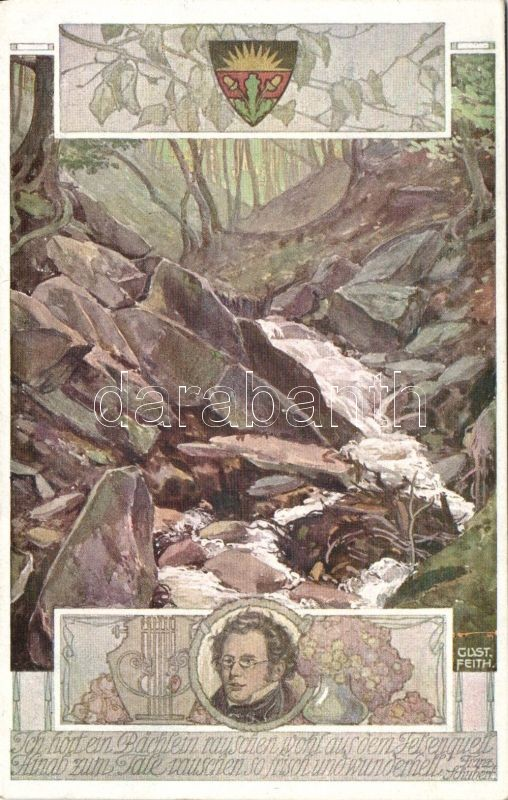 Franz Schubert's Die schöne Müllerin song illustration s: Gust Feith