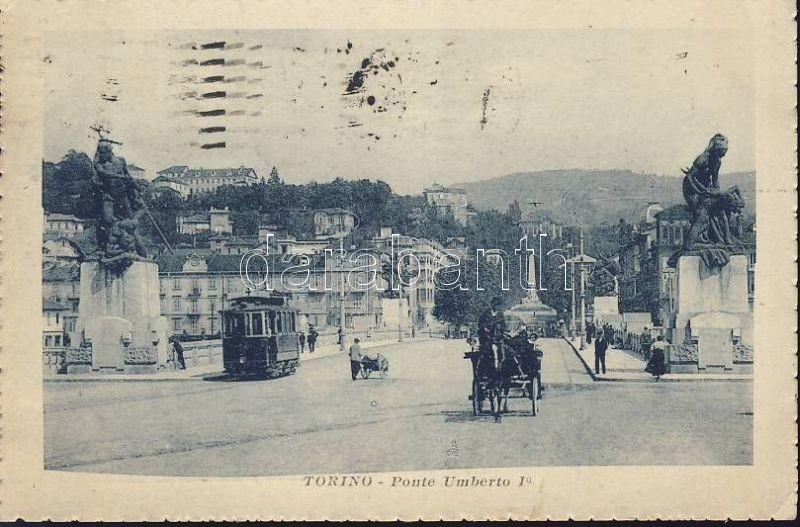 Torino, Turin; Ponto Umberto I / bridge, tram